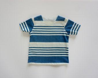 100% Cotton Ocean T, Baby boy clothes, boy clothes, baby boy top, boy tops, handmade baby clothes,  handmade boy clothes, baby boy tops