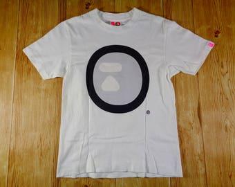 20% OFF Vintage APE by A Bathing Ape Big Face Full Logo Shirt Original Japan SMALL
