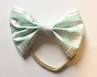 Cotton hairbow/ infant hairbow/ toddler hairbow/ hair clip/ nylon headband/ baby accessories