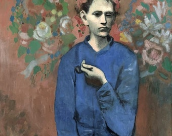 Pablo Picasso : Boy with a Pipe (1905) Canvas Gallery Wrapped Wall Art Print