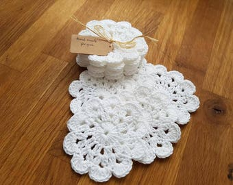 Handmade crochet coasters 6 pc -set / Wedding / Birthday gift and many more home decoration.
