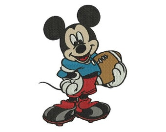 mickey football player embroidery design 4 sizes 5 formats