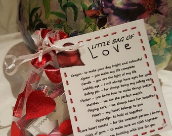 Little Bag of Love - Novelty Gift for friend or Loved One