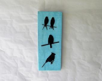 Bird Metal Art on Pallet Wood Wall Decoration Reclaimed