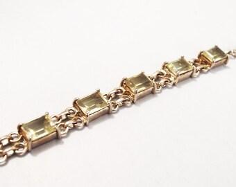 Silver and citrine  bracelet