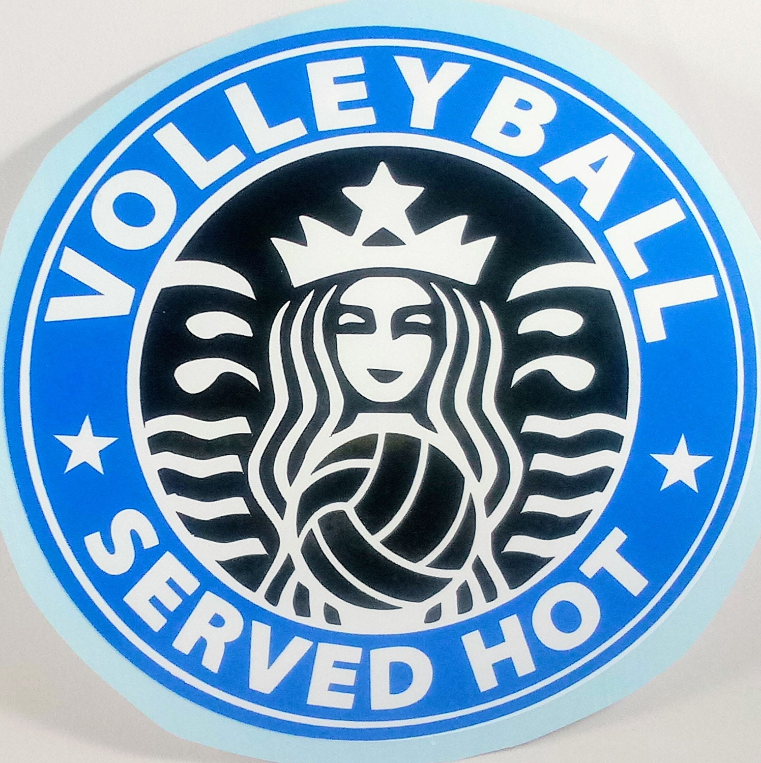 Volleyball Decal Volleyball Car Magnet Choose Your Own Team