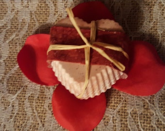 Heart-Shaped Vanilla Rose Soap