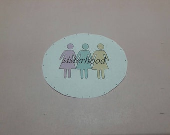 SALE! Vinyl Pastel Sisterhood Stickers- A celebration of Female Relationships SALE: (In honor of International Women's Day) + Free Shipping!