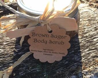 Sugar Body Scrub -8oz-Brown Sugar, Coffee or Lavender