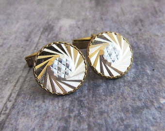 Teacher gift teacher appreciation gift Men gift for men Vintage cuff link Gold cufflink Geometric cufflinks Mens accessory Vintage cufflink
