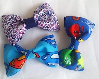 Boys Little Monsters pattern Bowtie (100% Cotton)(clip-on)