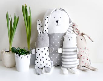 Stuffed animal Rabbit, sleeping toy