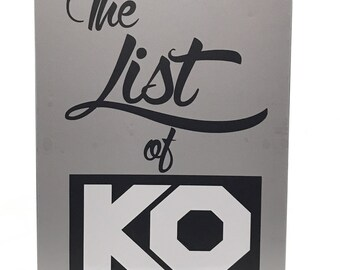 WWE The List Of KO Kevin Owens Clipboard Decal Chris Jericho Axxess Wrestlemania VIP