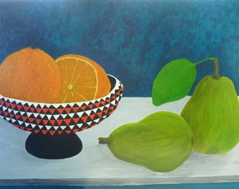 Acrylic painting on board. Still Life 1