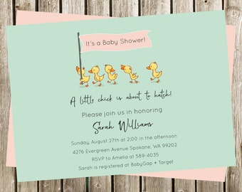Chick Baby Shower Invitation