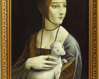 "Copy of the original ""Lady with an Ermine"" by Leonardo da Vinci"