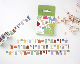 Colorful Cloth Japanese Washi Tape,Masking Tape, Decorative Tape, Planner Sticker, Journal Sticker
