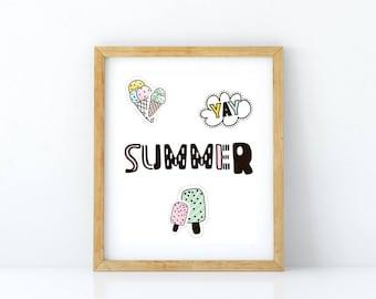 Fun Summer Patch Print - FOUR SIZES!