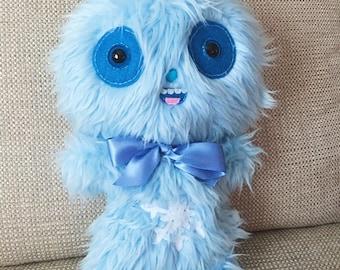 Yeti Plush Toy Abominable Snowman Ugly Cute Bigfoot Toys Frozen Ornament Kawaii Plushie Teddy Bear Weird Stuffed Animal Creepy Toy OOAK