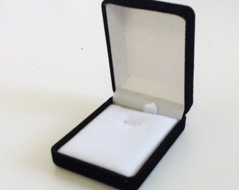 Black velvet jewelry box