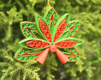 Paper Quilled Christmas Ornaments/ Christmas Hangings for Christmas Tree/ Holiday Season Gifts/ Christmas Gifts/ Paper Christmas Ornaments