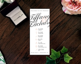 Simple Elegance Printable Pink Wedding Program