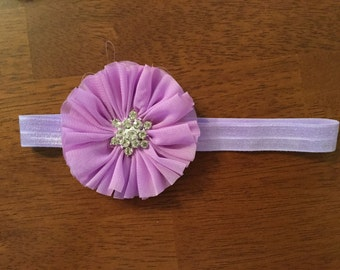 Rhinestone flower headband more colors available