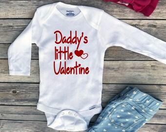 Valentine onesie, Daddy's little Valentine, baby girl onesie, Valentine shirt, daddy's girl, Valentines shirt, Toddler Valentine Shirt