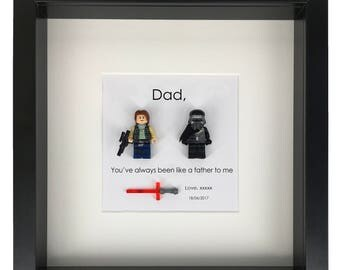 """Star Wars Kylo Ren + Han Solo """"Dad, you've always been like a father to me"""" Father's day frame gift from son Star wars father son gifts"""