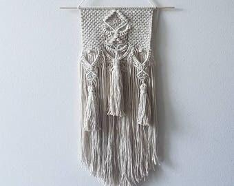 RASA.Tassel Macrame wall hanging, macramé, bohemian weaving wall art, fiber art, wall decoration