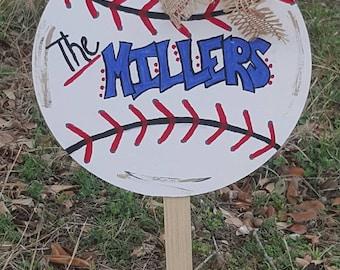 Baseball Door Hanger or Lawn Ornament