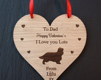 Cavalier King Charles Spaniel Valentine's Gift, Valentine's Gift for Dog Lovers, Valentine's King Charles Spaniel Gift, Gift from the Dog