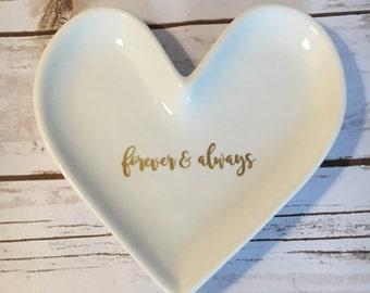 Heart Ring Dish, Engagement Gift, Custom Ring Dish, Oversized Ring Dish, Love Ring Dish