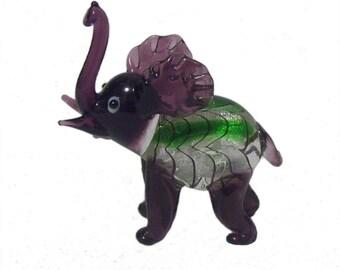 Glass Elephants x 6