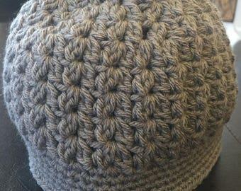 Kids messy bun hat / messy hair hat / crochet / handmade