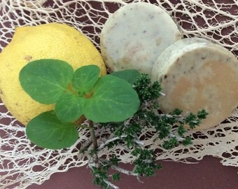 thyme/ mint /lemon soap bar