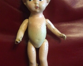 Unmarked Composition Patsy Type Doll TLC Original Shoes 12""