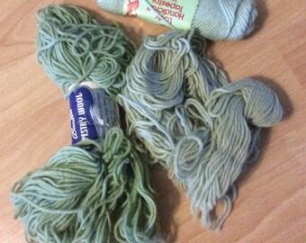 4 ounces 100% wool Needlepoint Yarn Mint Greens