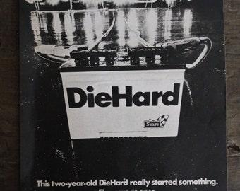 Original DieHard Paper Ad 1971