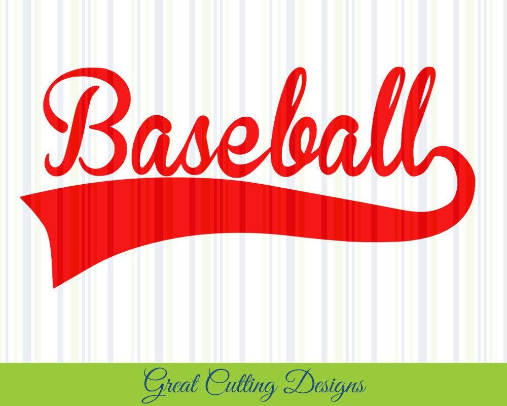 Baseball SVG Cut File Baseball Swoosh Svg DXF Cut File