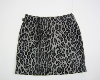 MOSCHINO vintage mini ladies skirt leopard animal print S M