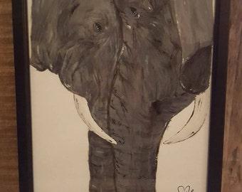 Elephant Painting - Framed