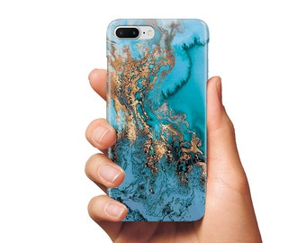 Case blue gold marble iPhone 5 case iPhone 6 case iPhone 6 Plus case iPhone 7 case iPhone 7 Plus case iPhone 6s case iPhone 5 SE case marble