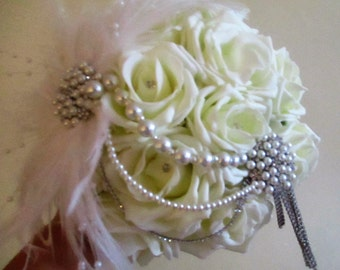 Great Gatsby Inspired Bridal Bouquet