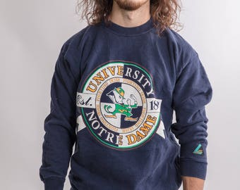 Vintage 90s College Navy Sweater