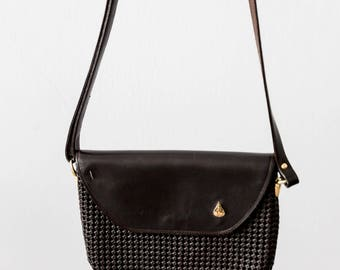 Vintage 70s Dark Chocolate Leather Bag