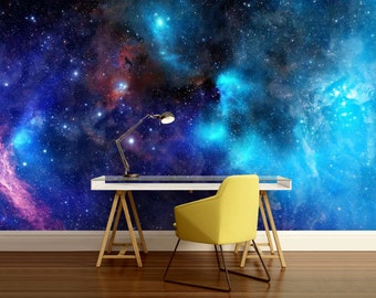 Galaxy wall decal, stars wallpaper, nebula wall mural, self-adhesive ceiling, ceiling wall mural, space star wall mural, ceiling wallpaper