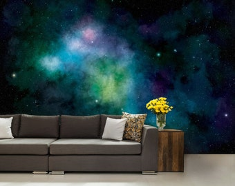 Galaxy wallpaper, wall mural stars, nebula wall mural, star wallpaper, ceiling wallpaper,  ceiling wall mural, ceiling galaxy decal, ceiling