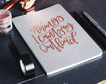 Copper Embossed Notebook