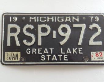 Michigan 1979 License Plate